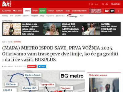 Jkp Beogradski Metro I Voz Blic Mapa Metro Ispod Save Prva